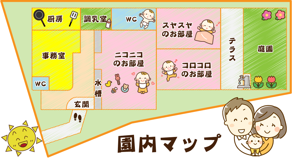 分園ひよこ園内マップ